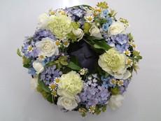 紫陽花のテーブルリース