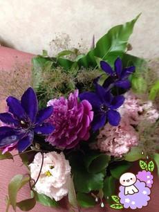 クレマチスと芍薬の和風アレンジメント