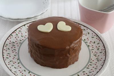 ハッピーバレンタイン みんなで食べようチョコケーキ