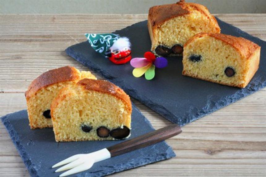 三温糖と黒豆のパウンドケーキ