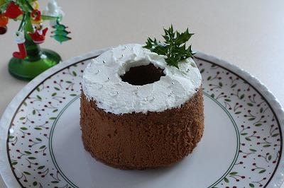 ココアシフォンケーキ クリスマスバージョン