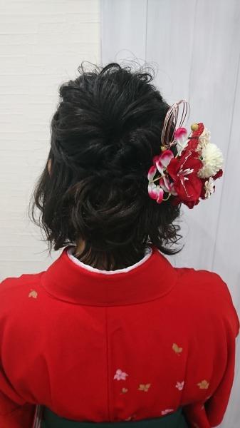 卒業式 袴ヘアセット ハーフアップ