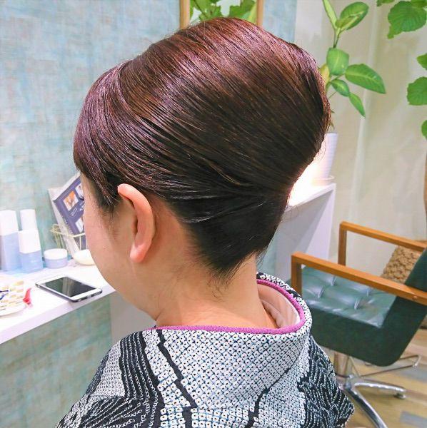 入学式 和装で参列 ベーシックヘアセット/ヘアアレンジ