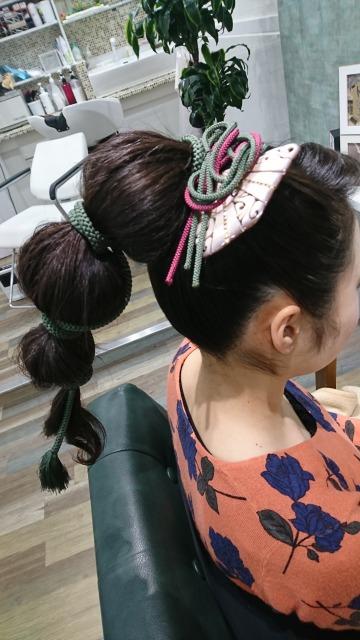 個性的に玉ねぎヘア 結婚式参列ヘアセット/ヘアアレンジ