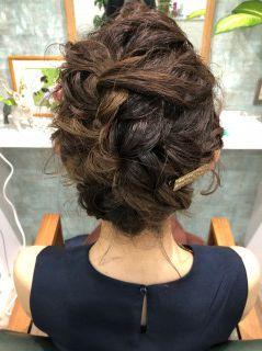 編み込みヘアセット/ヘアアレンジ